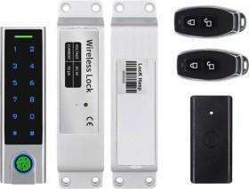 Kit serrure 100% sans-fil IP65, empreinte digitale + code + badges + télécommande